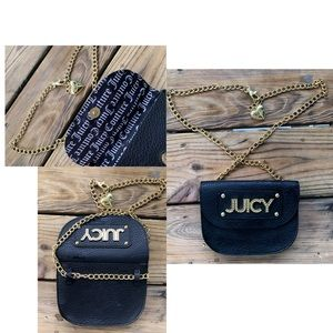 Juicy Couture Gold chain belt fanny pack